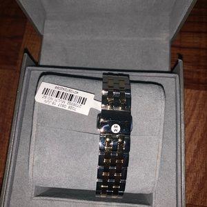Michele Accessories - NWT Michele Urban Mini Two-Tone Bracelet Watch